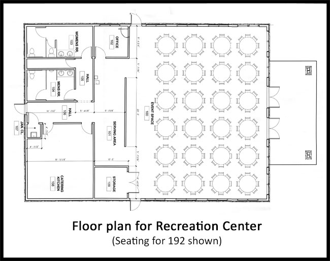 Duncan SC Rec Center floor plan